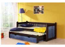 Rozkládací postel s přistýlkou a úložným prostorem Filip, masiv borovice