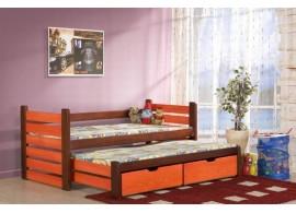 Rozkládací dětská postel s přistýlkou a úložným prostorem Matěj, masiv borovice