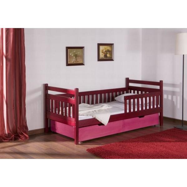 Dětská postel s úložným prostorem Alice, masiv borovice
