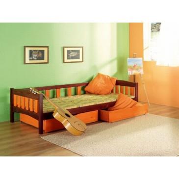 Dětská postel s úložným prostorem Zuzka, masiv borovice