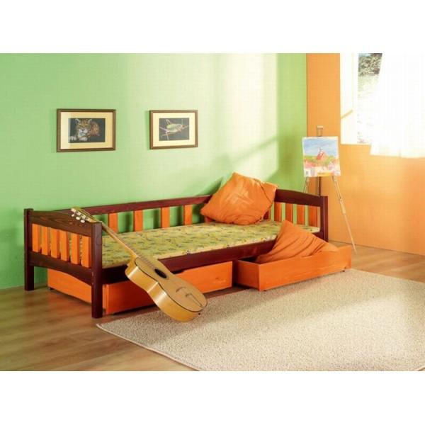 Dětská postel s úložným prostorem Zuzana, masiv borovice