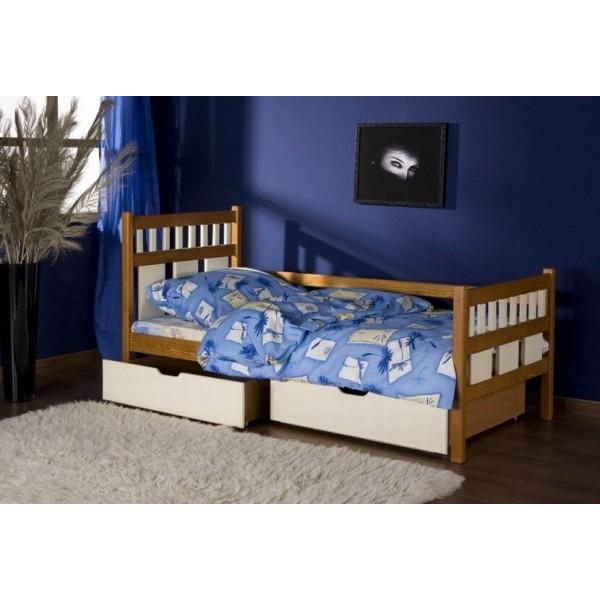 Dětská postel s úložným prostorem Luiza, masiv borovice