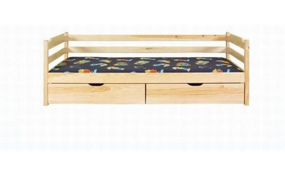 Dětská postel s úložným prostorem Marta, masiv borovice