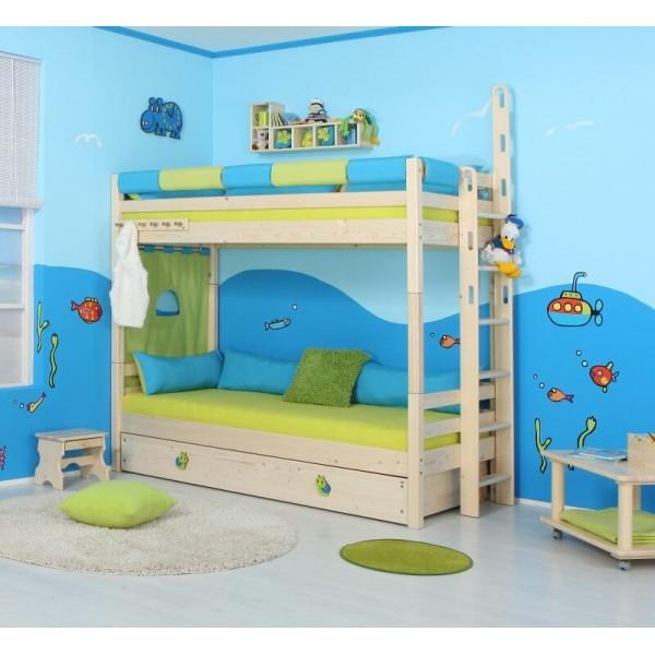 Dětská poschoďová postel - palanda DOMINO D906- TZ, masiv smrk