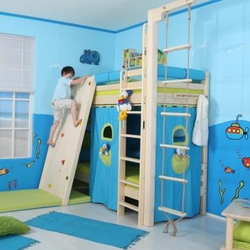 Patrová postel - horní spaní DOMINO D907-TZ , masiv smrk