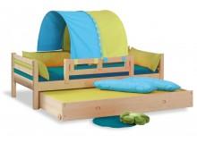 Dětská postel - jednolůžko DOMINO se zábranou D901, D902 - TZ, masiv smrk