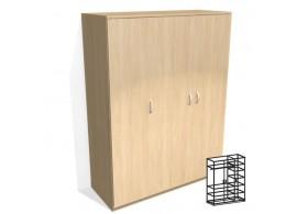 Skříň šatní vysoká třídveřová vč. soklu D72-DONALD
