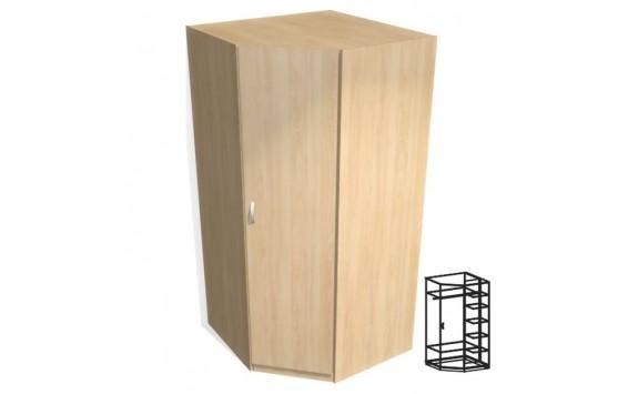 Skříň šatní vysoká rohová vč. soklu D73-DONALD