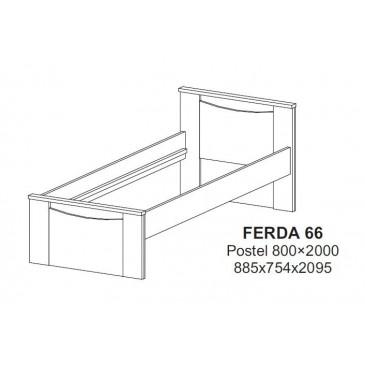 Dětská-studentská postel 80x200 FERDA-F66
