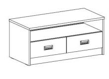 Televizní stolek FERDA-F 73, bříza