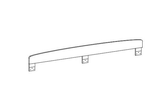 Zábrana k posteli 1960 FERDA-F 49, bříza