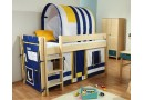 Dětská zvýšená postel Bella B0386 M-B, masiv smrk