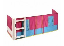 Látkový domeček pod postel D0478, růžovo - modrý