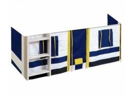 Látkový domeček pod postel D0477, modrý - bílý