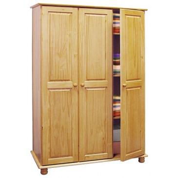 Skříň 3 dveřová IA8863, masiv borovice