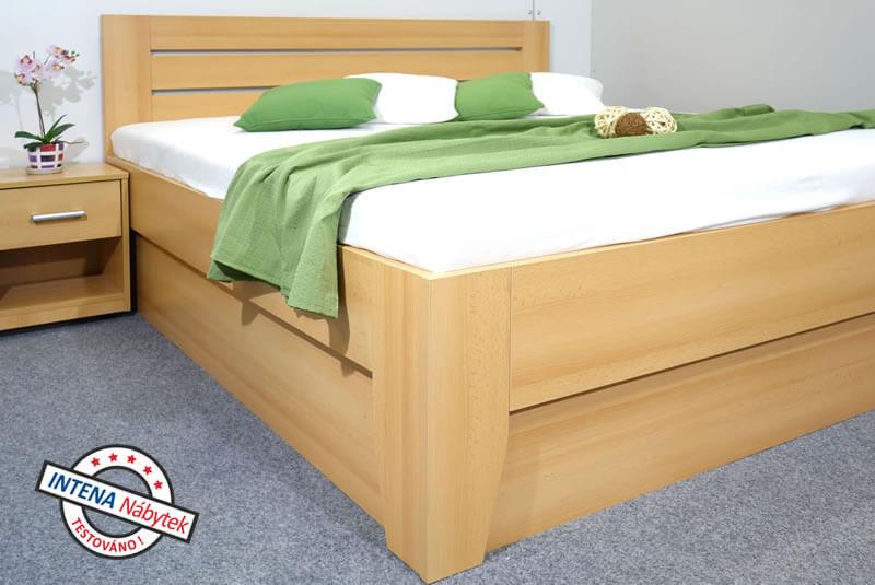 Detail boku postele s úložným prostorem Canaria