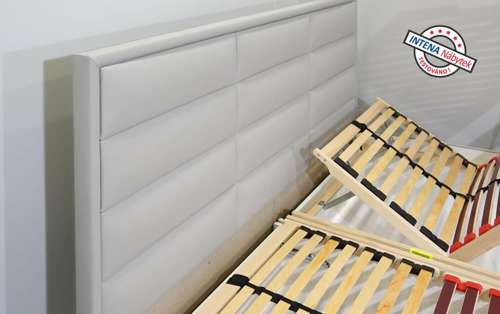 Detail čela čalouněné postele Casiopea