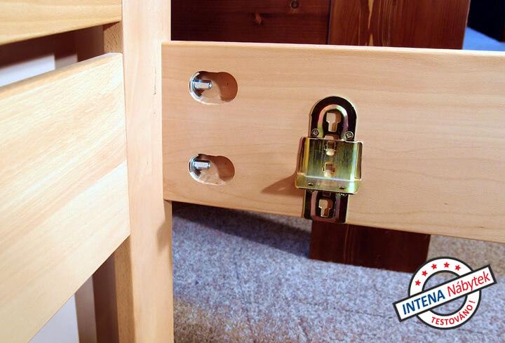 Rohový spoj postele Evita 6