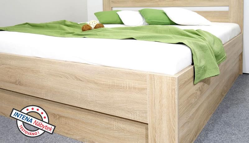 Detail provedení postele LADA, boční výklop