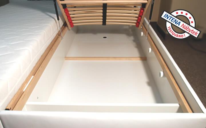 Detail úložného prostoru postele Leontýna