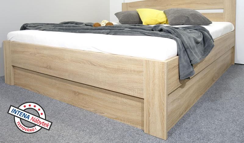 Detail bočnice postele s úložným prostorem Maria