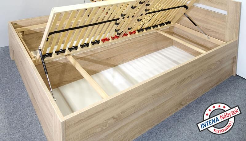 Detail úložného prostoru postele s úložným prostorem Maria