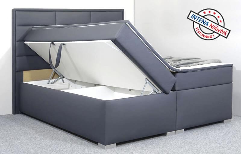 Detail boku americké postele s úložným prostorem Nomento