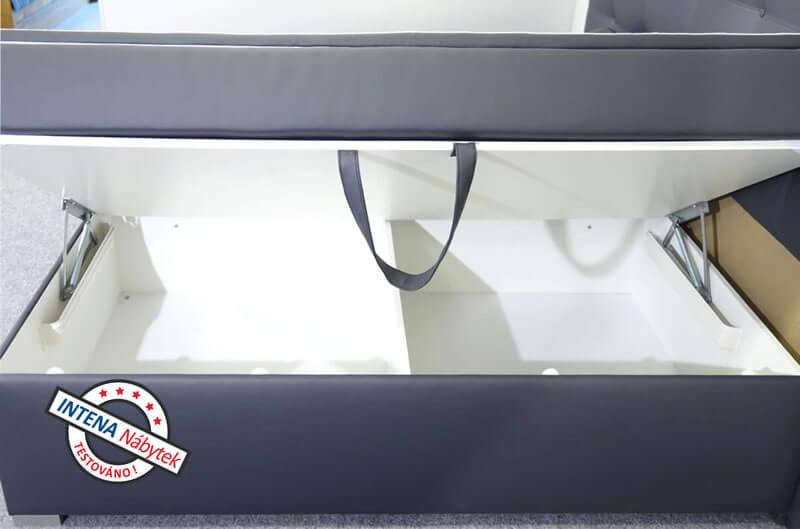 Úložný prostor americké postele s úložným prostorem Nomento
