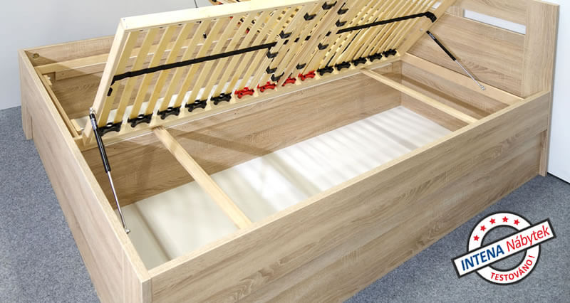 Detail úložného prostoru postele s úložným prostorem Pegas