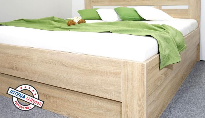 Detail boku postele s úložným prostorem Pegas