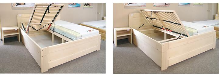 Detail výklopných roštů postele Remark 1 č.157