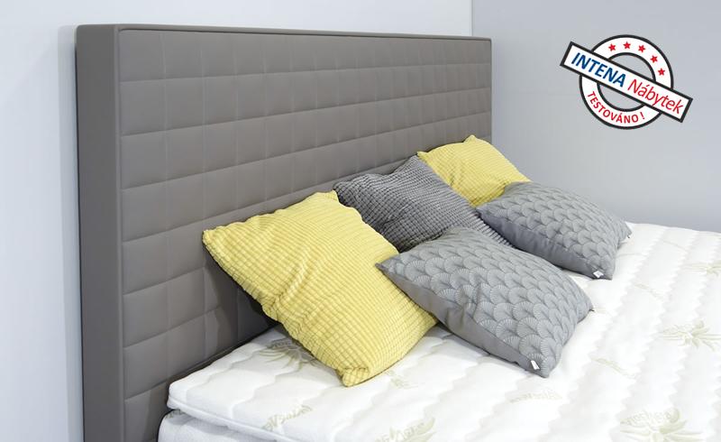 Detail čela americké postele s úložným prostorem Rialto