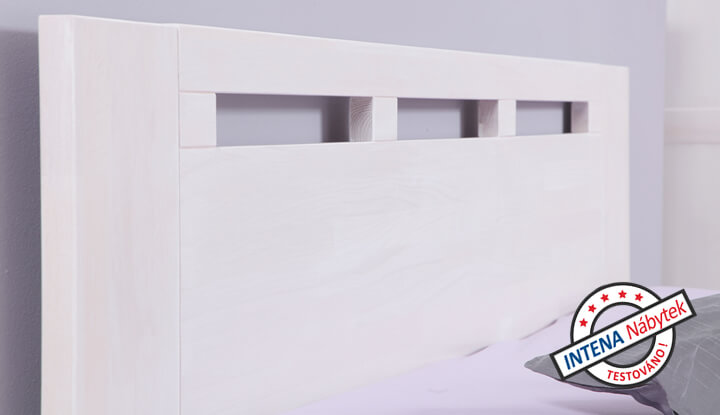 Detail bílé postele Valencia Senior