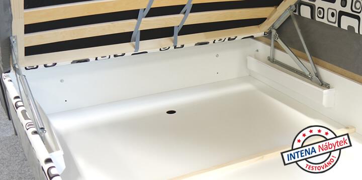 Detail spoje čalouněné postele Alexa