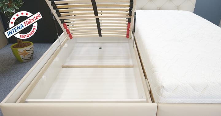 Úložný prostor čalouněné postele Jolanda