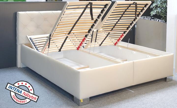 Test postele s úložným prostorem Jolanda