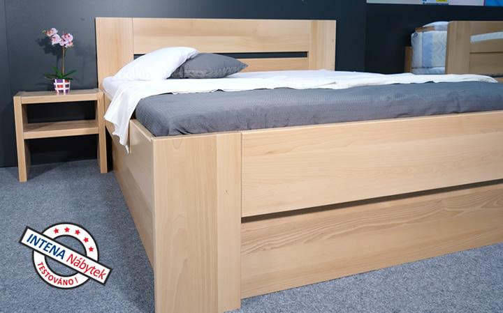 Detail boku úložné postele Matěj