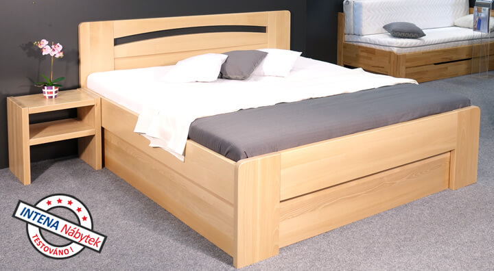 Detail postele Riči s úložným prostorem