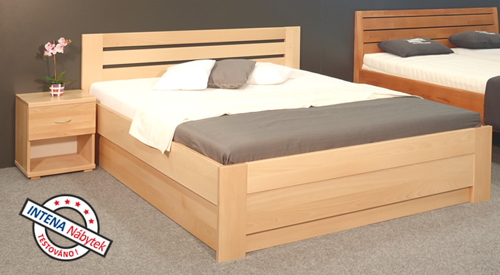 Test postele s úložným prostorem Rita