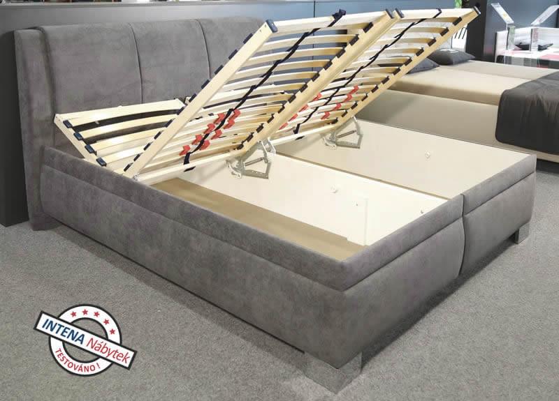 Test čalouněné postele Serena