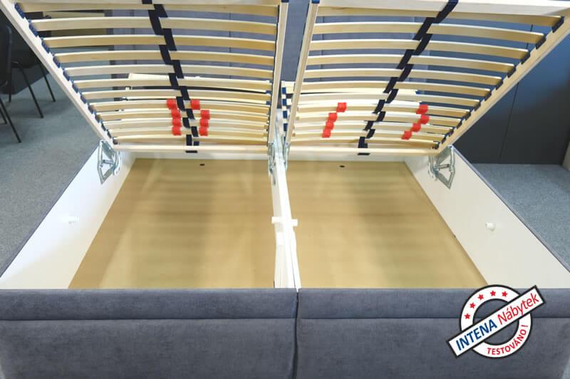 Detail úložného prostoru postele Serena