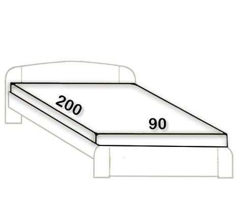 1. 90 x 200 cm