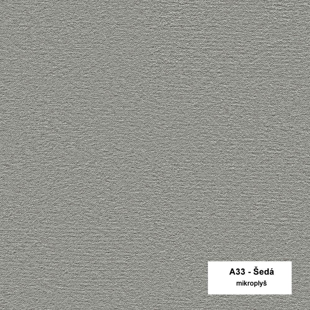Tmavě šedá mikroplyš