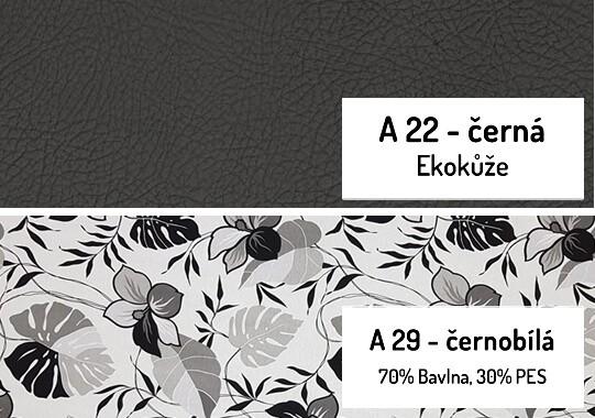 11. Černobílá-černá ekokůže