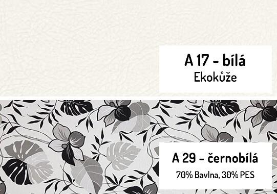 12. Černobílá-bílá ekokůže