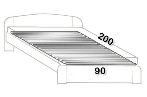 1. 90x200 cm