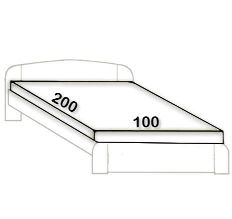 6. 100 x 200 cm