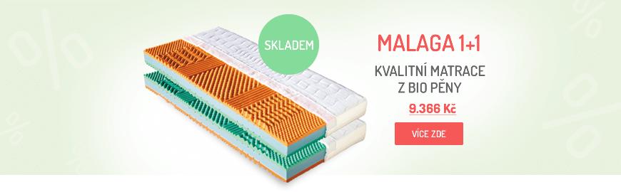 Patrnerské matrace MALAGA, 1+1 zdarma, líná pěna