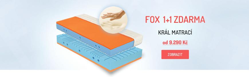 Patrnerské matrace FOX, 1+1 zdarma, líná pěna