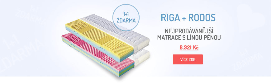 Matrace RIGA a RODOS, 1+1 zdarma, líná pěna